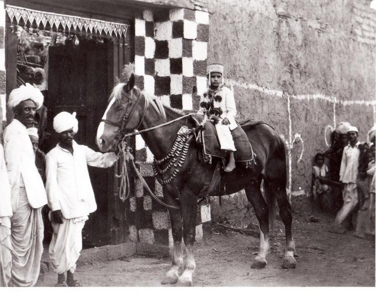 Young Marathi Boy's Thread Ceremony (Upanayana) - c1920's