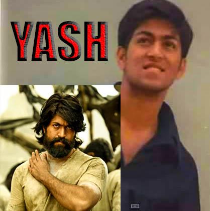 Yash (KGF Rocky Bhai) Early small age photos