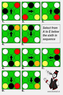 Billiard Ball Puzzle Last-in-Sequence