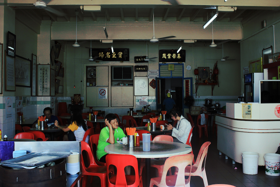 Busy diners at low yong moh dim sum malacca