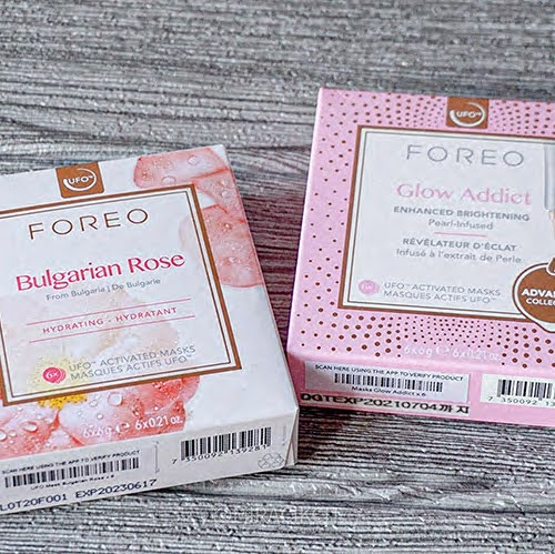 Foreo Activated Masks Bulgarian Rose and Glow Addict
