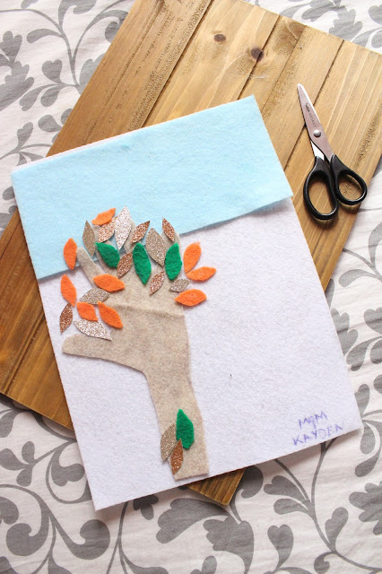 DIY Autumn Kids Hand Tree   City of Creative Dreams