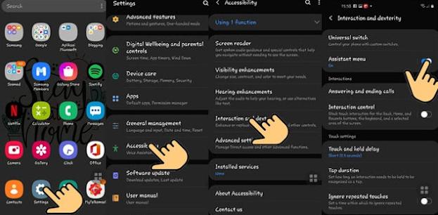 Screenshot Samsung A31 Dengan Assisten Menu
