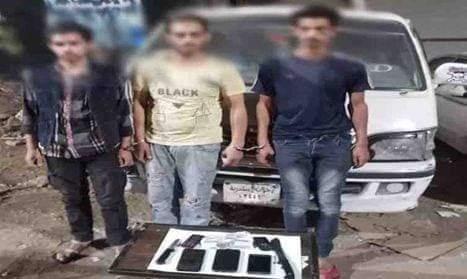 ضبط عناصر تشكيل عصابى بالقاهرة تخصص فى إرتكاب جرائم سرقات متعلقات المواطنين بالإكراه بالمطرية