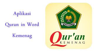 Aplikasi Qur'an in Word Kemenag