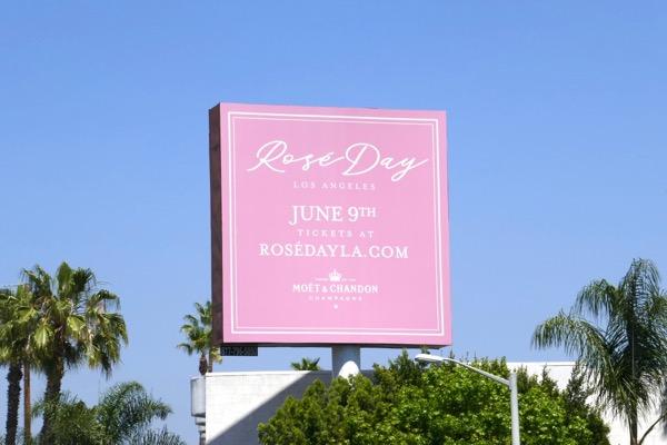 Rosé Day LA Moet Chandon billboard