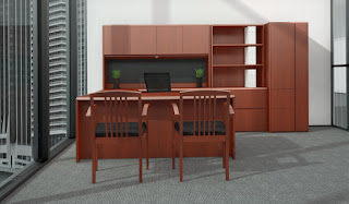 Cherry Finished Executive Office Furniture