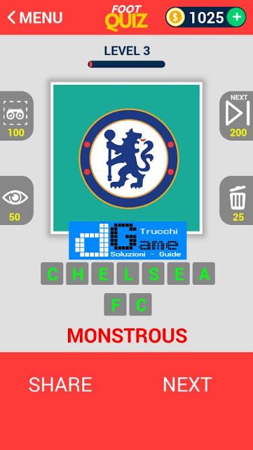 FootQuiz Calcio Quiz Football ( LOGO) soluzione livello 1-10