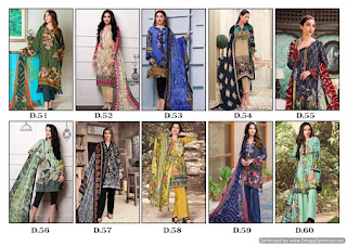 Original lawn pakistani Suits Gull a Ahmed vol 6