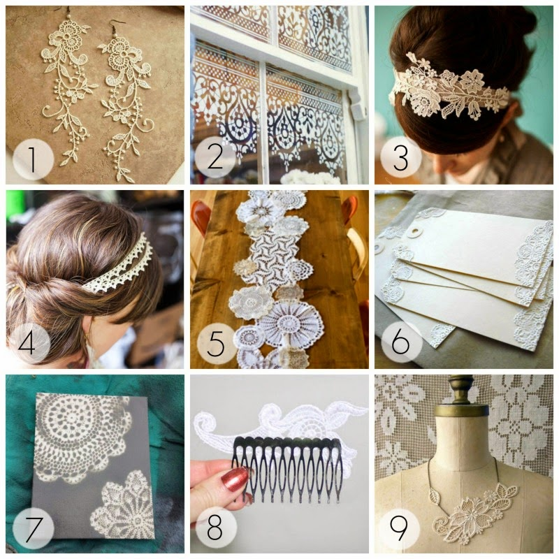 Delicate DIY lace projects