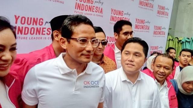 Usai Jokowi - Prabowo, Giliran Sandiaga - Erick Thohir Ketemuan