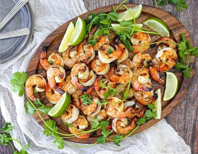 Grilled Margarita Shrimp #shrimp #seafood