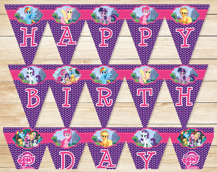 Free Printable My Little Pony Banner