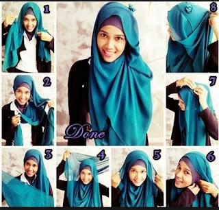Cara Memakai Hijab Yang Trend