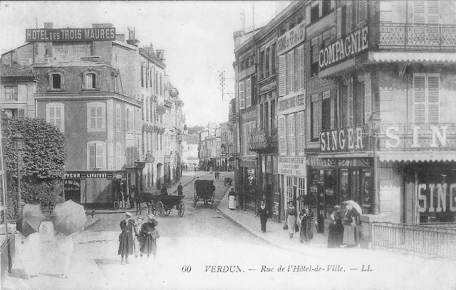 Verdun, rue Poincaré, place Chevert