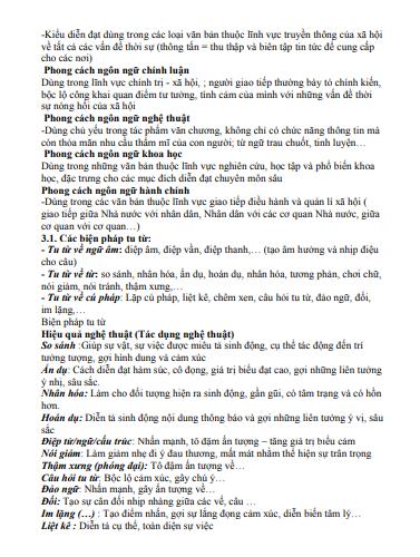 Đề cương ôn tập Ngữ văn 12 học kì 1