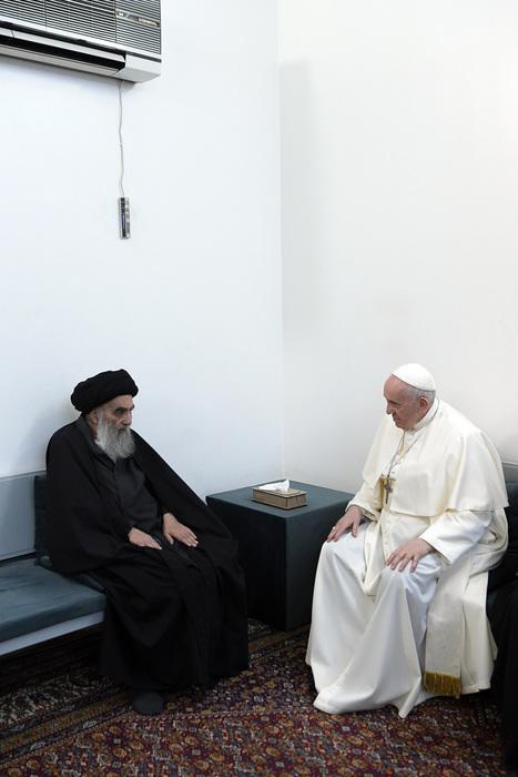 Papa in Iraq, incontra Al-Sistani il leader sciita