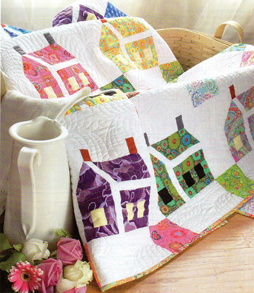 The House that Kaffe Built Quilt Free Pattern