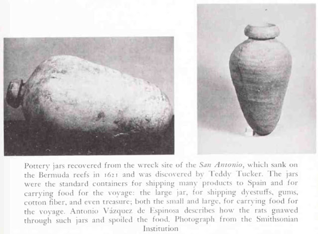 The real pottery jars from Mendel Peterson's The Funnel of Gold