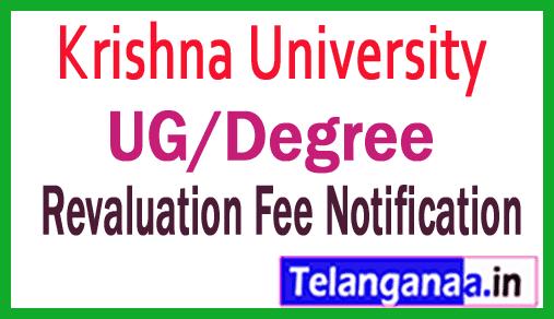 Krishna University UG Revaluation Fee Notification