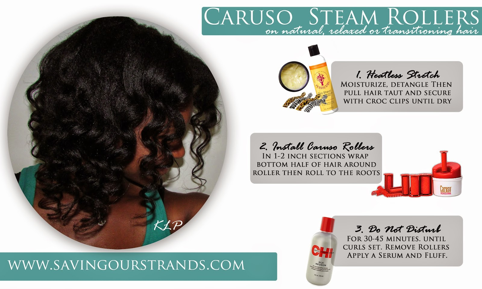 Tutorial How To Use Caruso Steam Rollers On Relaxed And Transitioning Hair The Washdayexperience