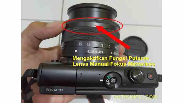 Fungsi Putaran Kecil di Lensa Canon Mirrorless EOS M100