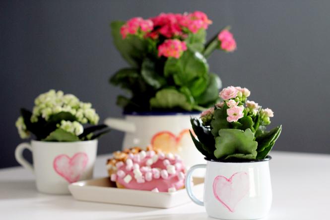 DIY, Ein Muttertagsgeschenk mit Herz und Always Kalanchoë + GEWINNSPIEL