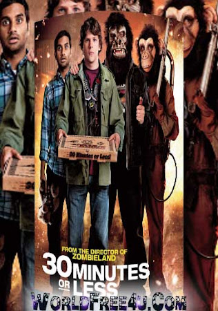 Poster Of 30 Minutes or Less In Dual Audio Hindi English 300MB Compressed Small Size Pc Movie Free Download Only At worldfree4u.com