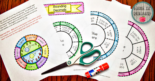 Rounding Decimals Wheel Foldable