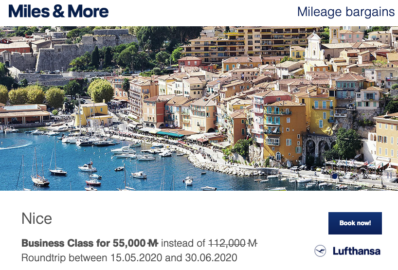 Miles & More Mileage Bargains - Big mileage discounts on flights to Europe out of Calgary, Montreal, Ottawa, Toronto & Vancouver