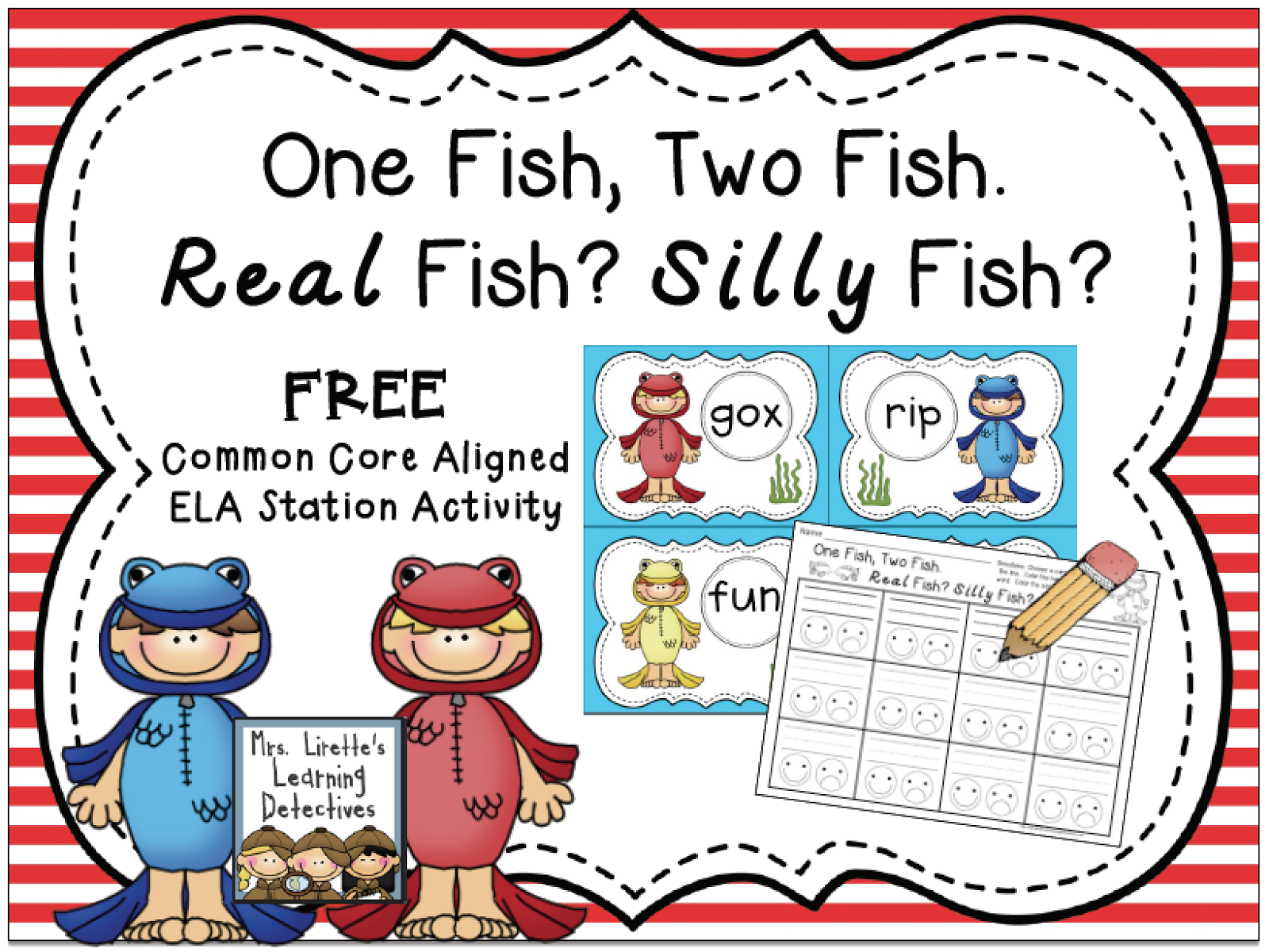 Classroom Freebies One Fish Two Fish Eebie For Dr