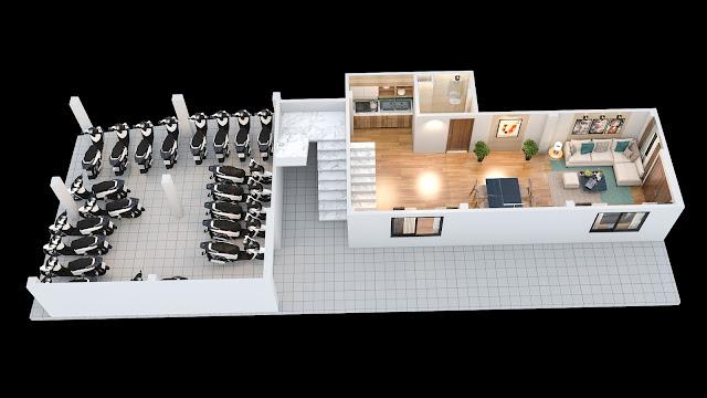 Mặt bằng thiết kế tầng 1 chung cư mini Minh Đại Lộc 2 (ngõ 173 Đông Ngạc)