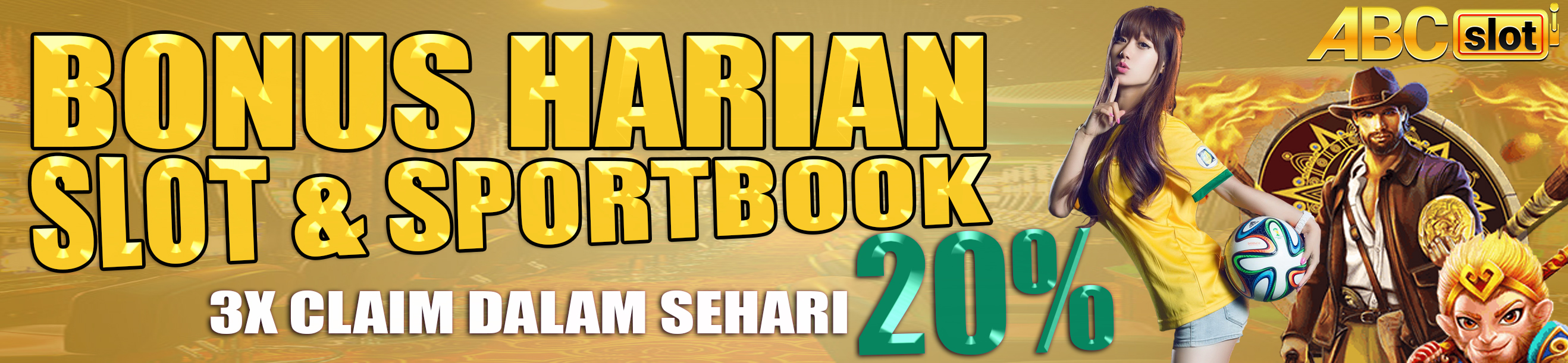 BONUS HARIAN 20%, DAPAT DI CLAIM 3X DALAM SEHARI !