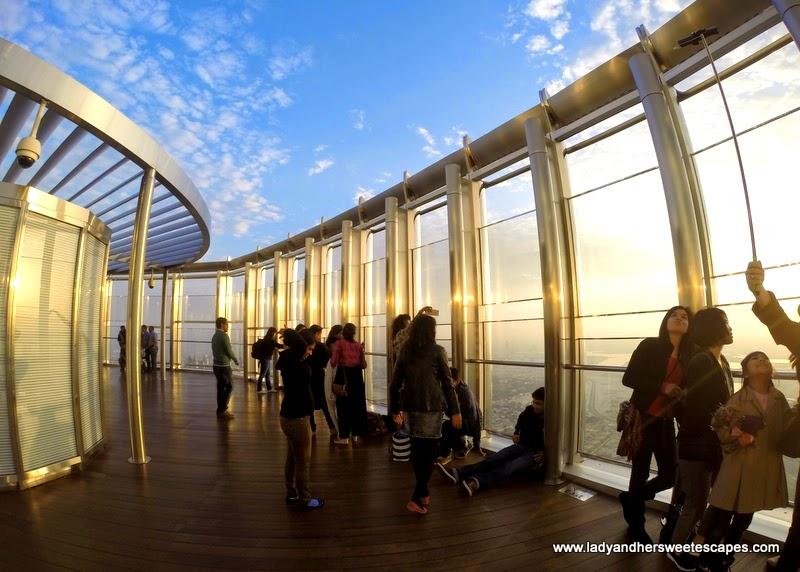Burj Khalifa's outdoor terrace