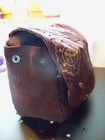 unique custom made belt bag embroided cord   http://panpancrafts.blogspot.de/