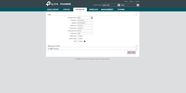 Ubah ip address lan tp link cpe 220