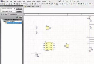 Designer Schematic interface is straightforward