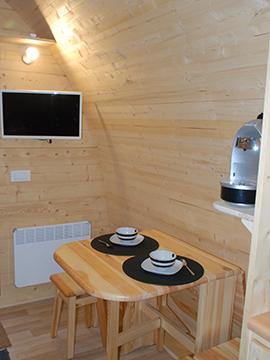 Case in legno Megapod XL zona pranzo