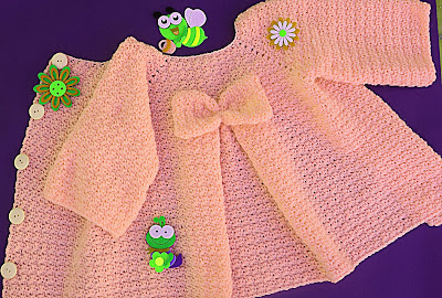 3 - Crochet Imagenes Abrigo rosa a crocher y ganchillo muy fácil y sencillo , lindo por Majovel Crochet