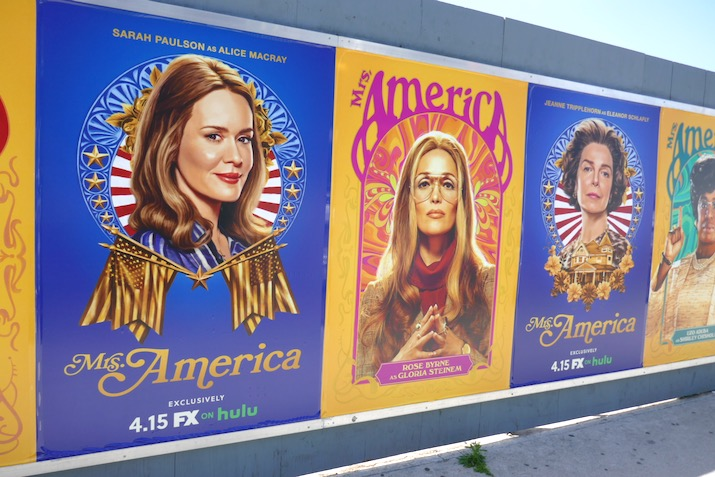 Mrs America series launch street posters