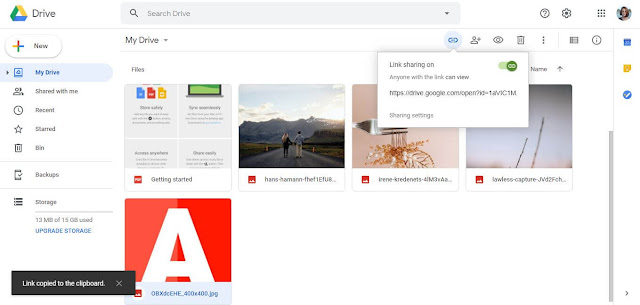Share Link Of Files - Google Drive Tips And Tricks