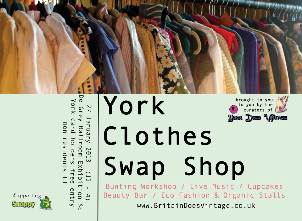York Clothes Swap Spectacular! 27th January 2013 - Britain