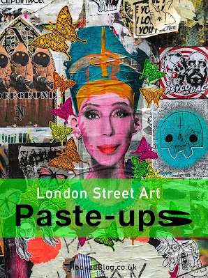 A collection of  London street art paste-ups photographed on walls in and around the neighbourhood of Shoreditch. #streetart #pasteups #Hookedblog