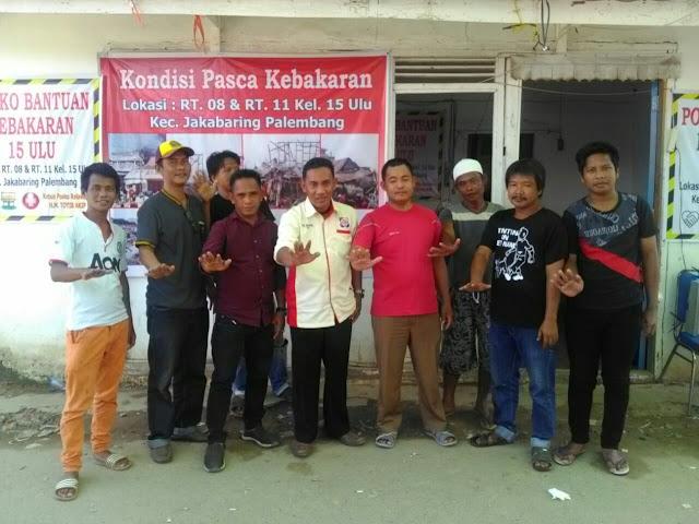 Organisasi Kepemudaan AMI Kota Palembang bantu Korban Kebakaran di Jakabaring