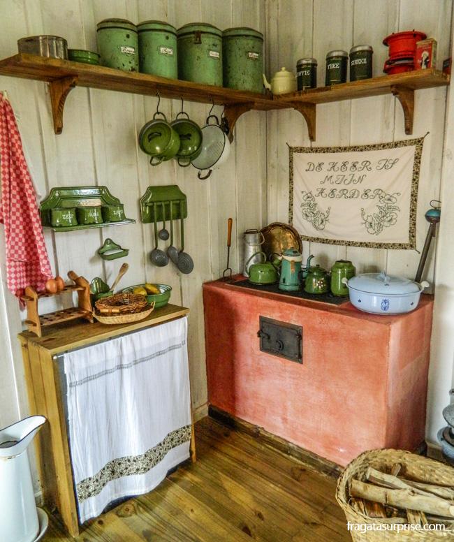 Cozinha de colonos holandeses no Parque Histórico de Carambeí