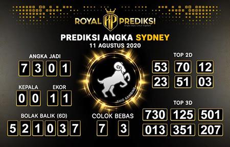 Royal Prediksi Sidney Selasa 11 Agustus 2020