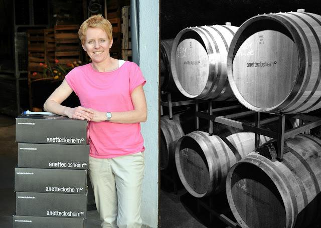 Winzerin Anette Closheim vom Weingut Closheim an der Nahe
