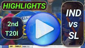 IND vs SL 2nd T20I 2020