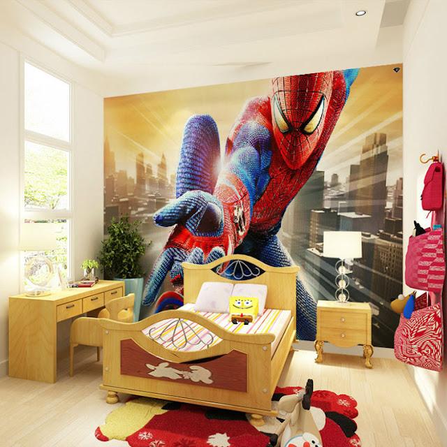 spiderman wall mural kids room wallpaper marvel photo wallpaper bedroom boys