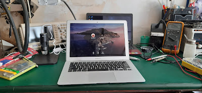 Service macbook air 2013 layar redup di malang
